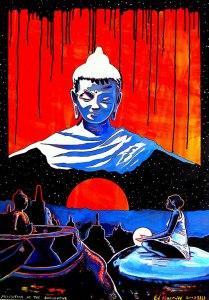 Szük-Norbert_Meditation-at-the-Borobudur-70x100-Acryl-400usd