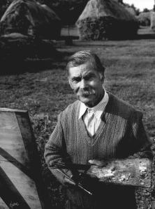 Tóth István(1923) Benedek Péter szérüskertben I. Fekete-fehér nagyítás JF185